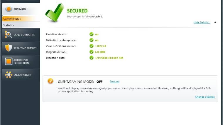 Napi tipp: avast! Antivirus 6.0 kép