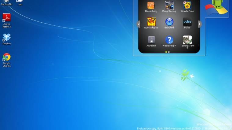 Hogyan használjuk Windows 7 alatt az androidos alkalmazásainkat? kép