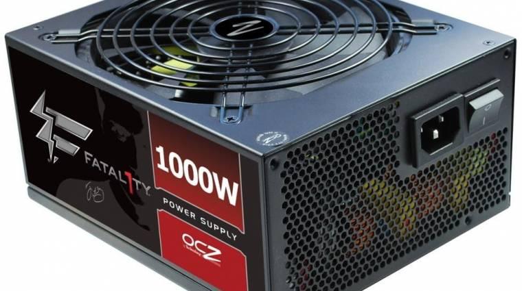 1000 wattos Fatal1ty tápegység az OCZ-től kép