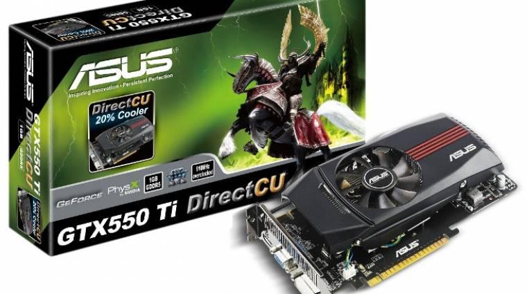 ASUS GTX550 Ti kártyák érkeznek kép