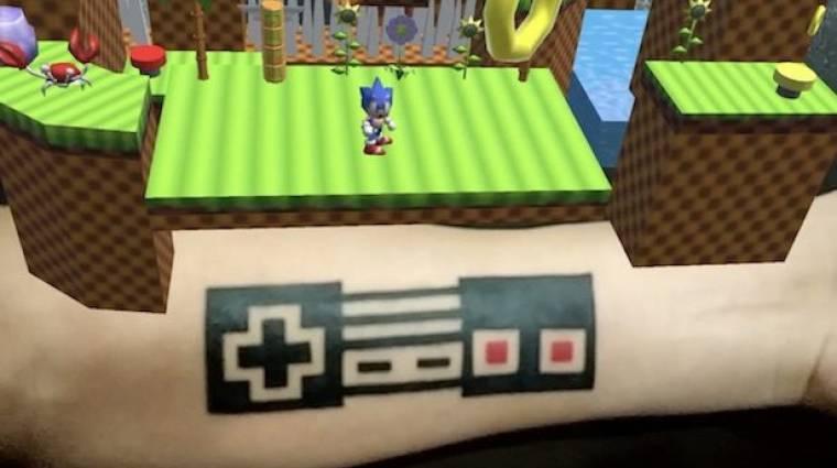 Egy srác egy AR Sonic játékot csinált a tetkójából bevezetőkép