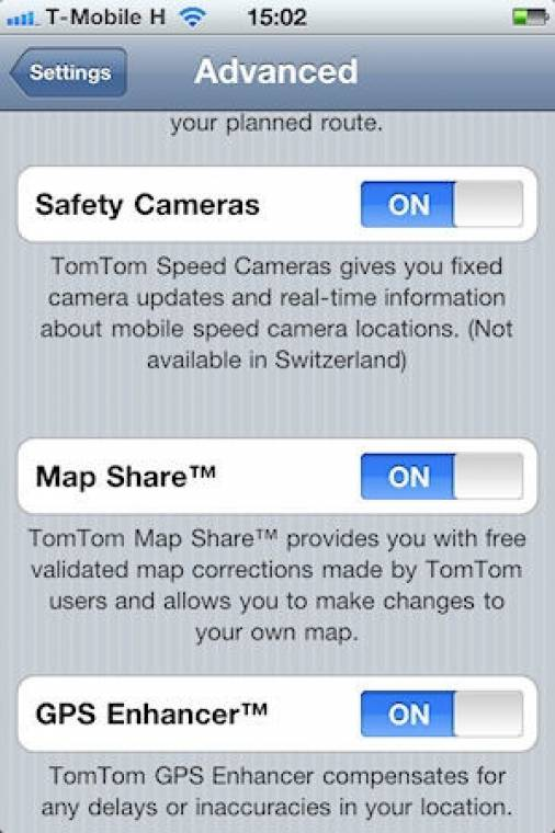 TomTom for iPhone 1.7