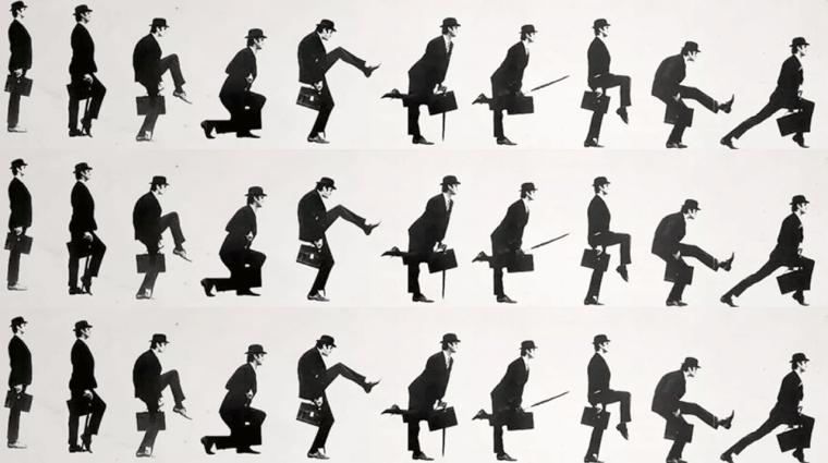 Napi büntetés: kiszámolták, mennyire hülye a Monty Python-járás bevezetőkép