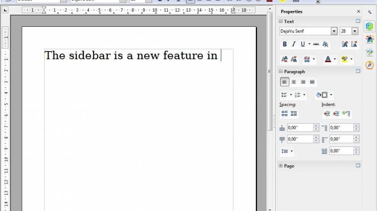 Oldalsávval újított az OpenOffice kép