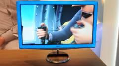 Kék kávával pihenteti szemünket a Philips új, 3D-s monitora kép