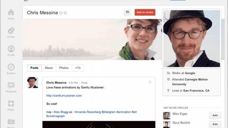 Facebook és Twitter elemeket lopkod a Google+ kép