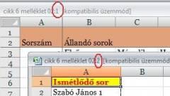 Excel-kisokos - Műveletek munkalapokkal kép