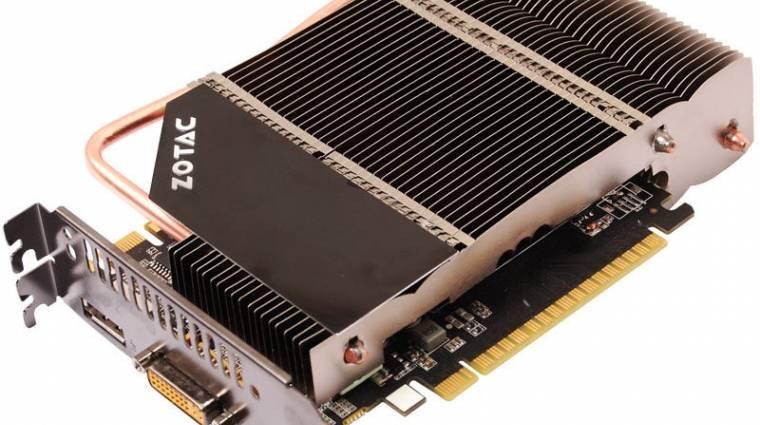 Passzív GeForce GTS 450 a Zotac-tól kép