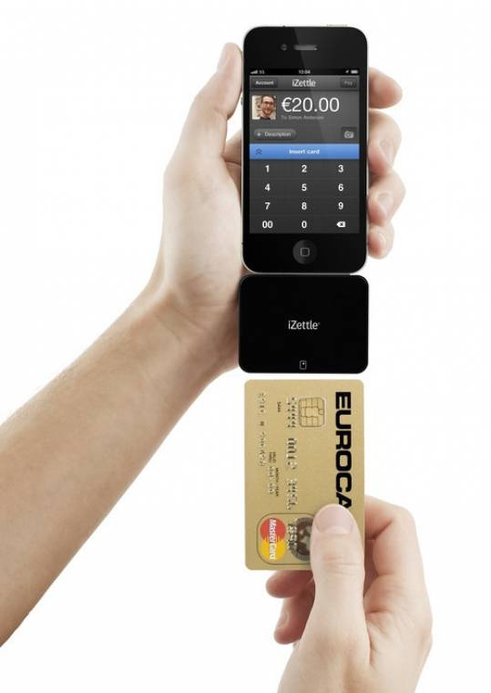 izettle iphone okostelefon bankkártya fizetés