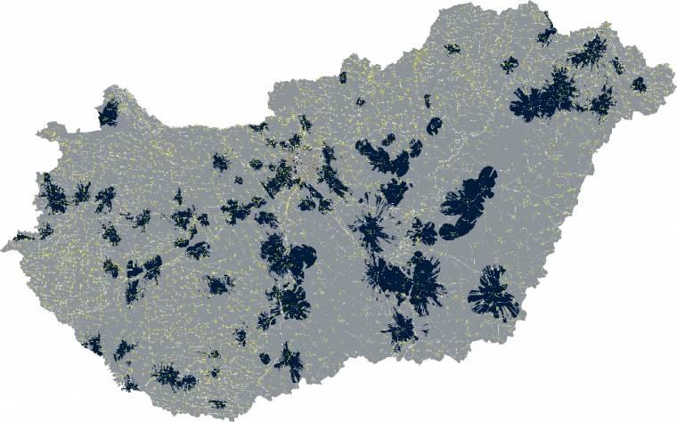Telenor 4G/LTE kültéri lefedettségi térkép (2013. augusztus 31.)