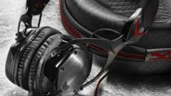 Acélkeretes, memóriapárnás Hi-Fi fejhallgató a V-Moda-tól kép