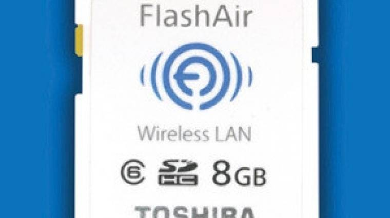 Itt a Toshiba WiFi-s memóriakártyája kép