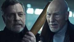 Mark Hamill és Patrick Stewart kajás összecsapása egészen furcsa élmény kép