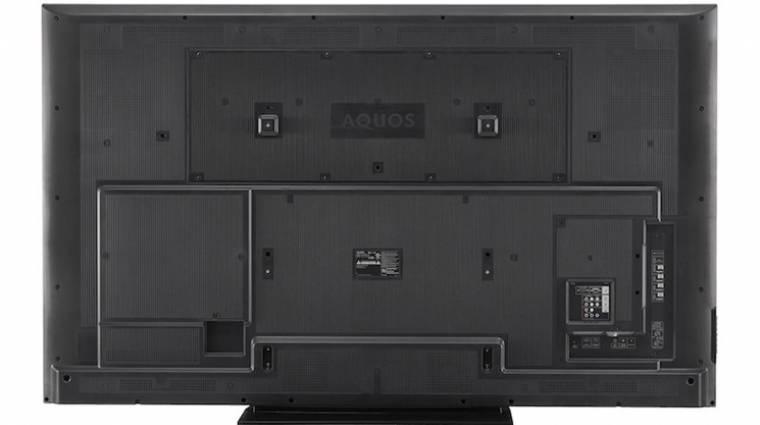 80 hüvelykes LCD tévével sokkol a SHARP kép