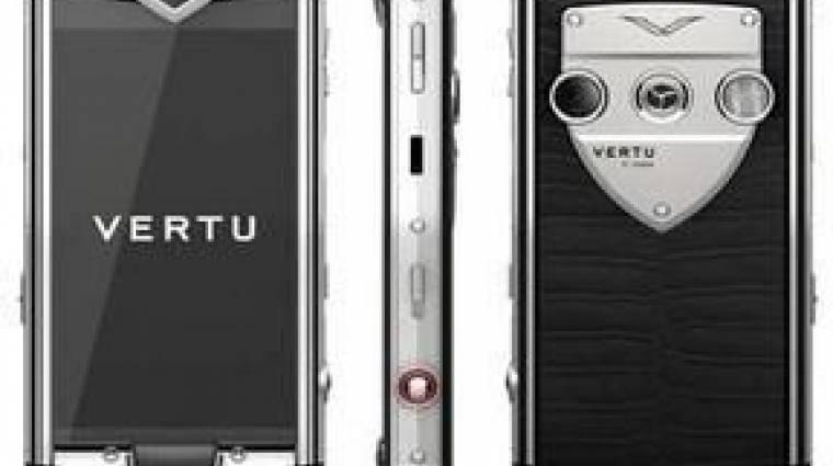 Itt az első érintős Vertu luxusmobil kép