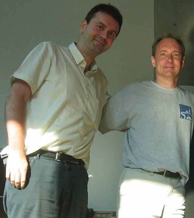 Massimo Marchiori Tim Berners-Lee társaságában