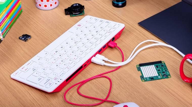 Egy olcsó, billentyűzetbe épített PC lett a Raspberry Pi 400 kép