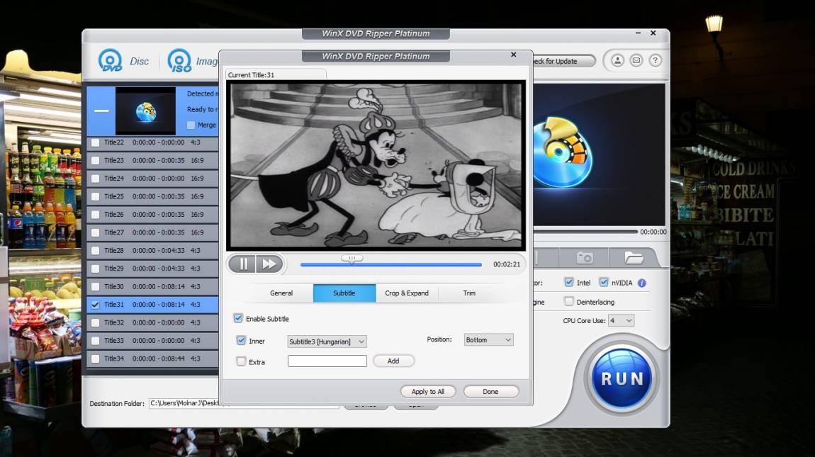 Szerezd meg velünk: WinX DVD Ripper Platinum 8.20 kép