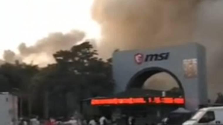 Tűz volt az MSI kínai gyárában kép