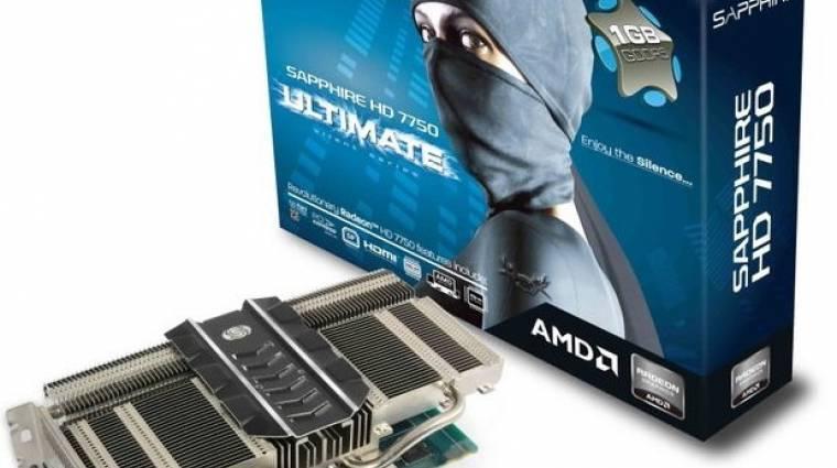 Sapphire HD 7750 passzív hűtéssel kép