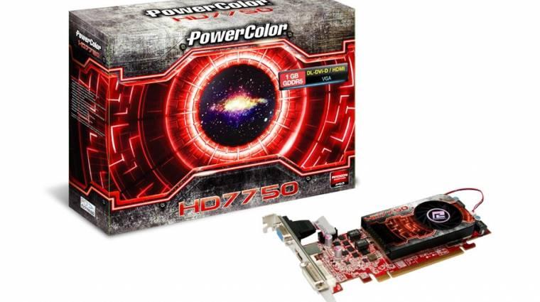 PowerColor Radeon HD 7750 alacsony profillal kép
