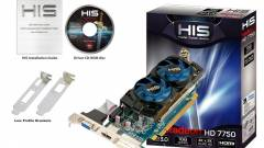 HIS Radeon HD 7750 alacsony profillal kép