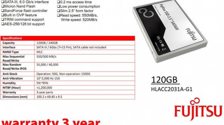 Érkezik az első Fujitsu SSD kép
