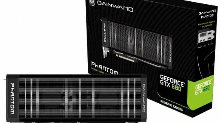 Gainward és Palit GeForce GTX 680 4 GB memóriával kép