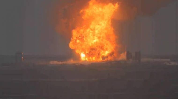 Teszt közben felrobbant a SpaceX egyik űrhajójának prototípusa kép