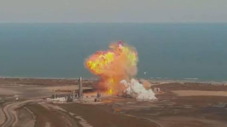 Repült egy tisztát, majd landoláskor robbant egy nagyot a SpaceX rakétája – már megint kép