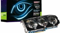 Gigabyte GeForce GTX 670 WindForce 3X hűtővel kép