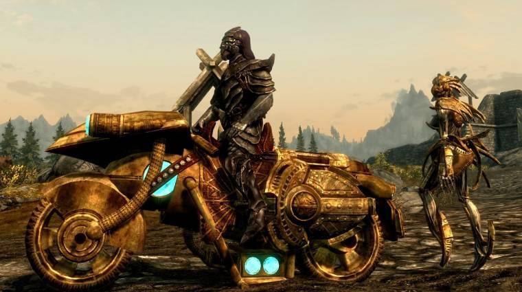 The Elder Scrolls V: Skyrim - kinek kellenek a lovak, amikor motorozni is lehet? bevezetőkép