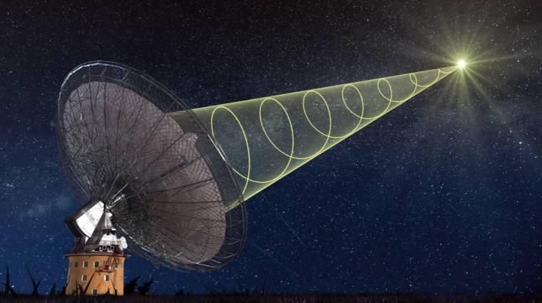 Érdekes rádiójelet fogtak be az űrből kép