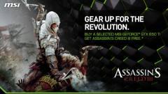 Ingyen Assassin's Creed III az MSI GeForce GTX 650 Ti-hoz kép