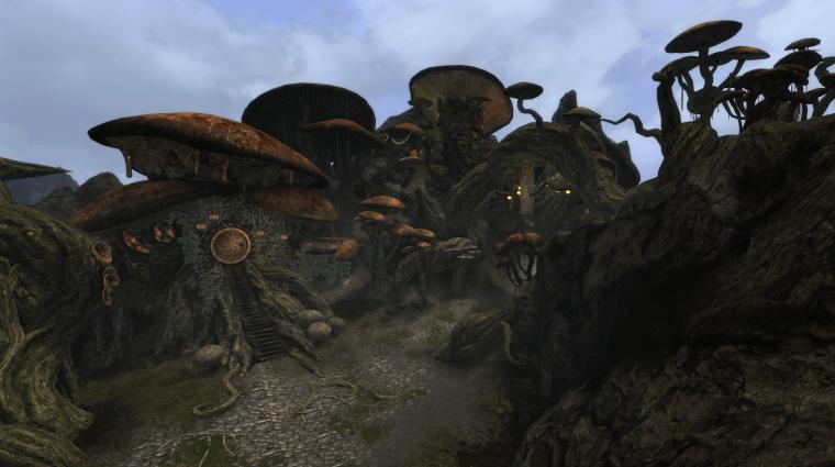 Még mindig készül, és továbbra is remekül fest a Skyrimbe oltott Morrowind bevezetőkép