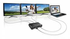 Egy DisplayPortból három monitor a Matrox adapterével kép
