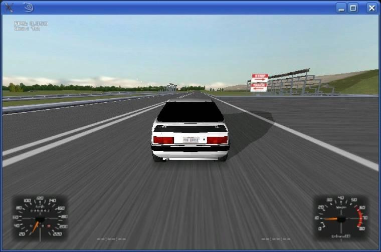 A próbaüzemet teljesítő szoftveres leképezővel üzemelő Racer