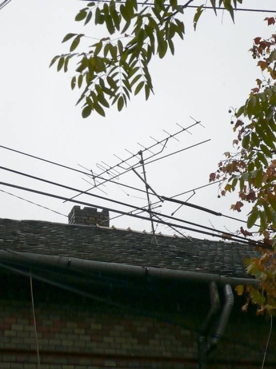 régi tetőantenna