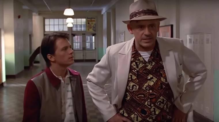 Így nézne ki Robert Downey Jr. és Tom Holland a Vissza a jövőbe filmben kép