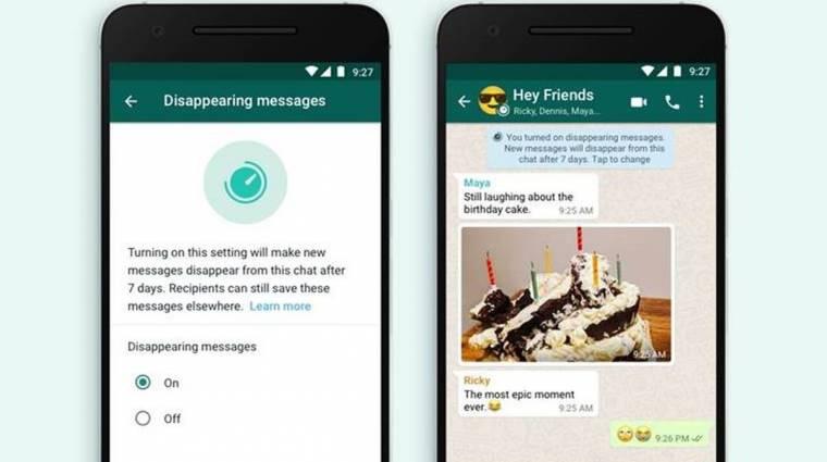 Megérkeztek az eltűnő üzenetek a WhatsApp üzenetküldőbe kép