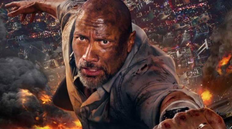 Felhőkarcoló trailer - Dwayne Johnson fél lábbal is kemény kép