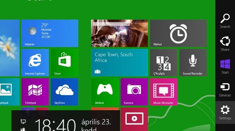 Képeken a Windows 8.1 Start gombja kép