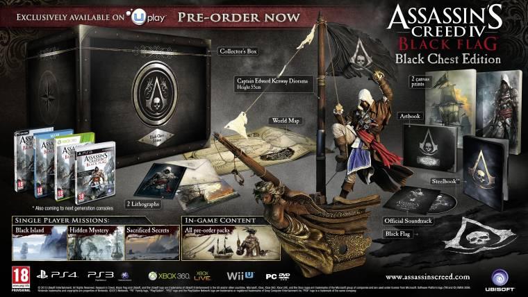 Assassin's Creed IV: Black Flag - gyűjtői kiadások és trailer