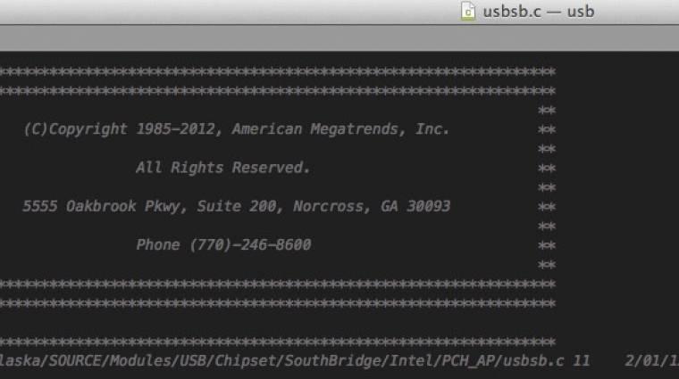 Kiszivárgott az AMI UEFI-jének forráskódja kép