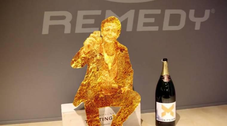 Kész van a Quantum Break, Sam Lake pezsgővel ünnepel bevezetőkép