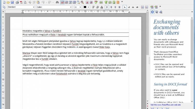 Villámgyors és ingyenes a FreeOffice kép