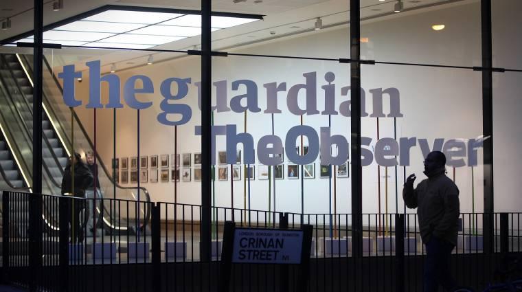 Brit hírszerzők ütöttek rajta a Guardian szerkesztőségén kép
