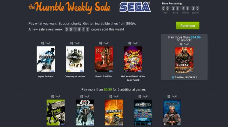 Humble Bundle - Total War és más SEGA játékok az eheti ajánlatban bevezetőkép