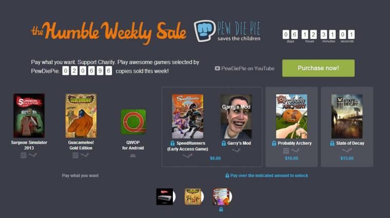 Humble Weekly Sale - State of Decay, Speedrunners és Garry's Mod olcsón bevezetőkép