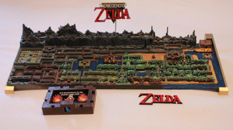 3D nyomtatóval készült a világ legmenőbb Legend of Zelda térképe bevezetőkép